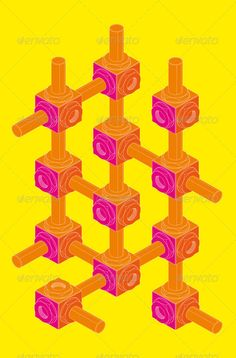 Screw-Nut, Isometric Projection, Engineering Graphics