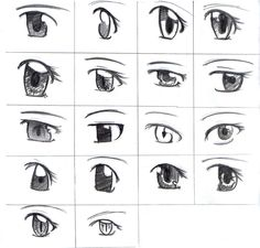 Anime Tutorial | Drawing Different Styles of Anime Eyes