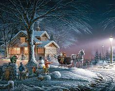 Snowy scene/Terry Redlin