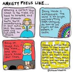 There's a difference between being #introverted, being #shy, and being #anxious. They are NOT synonymous; however, it's been shown that these traits often overlap. Being introverted means that you feel drained after social interaction. Being shy means that you find social interaction embarrassing. Having #socialanxiety feels more like panic. What about you? Are you introverted, shy, or anxious? Or all three? (I'm an #introvert with occasional #anxiety, but not usually shy.)