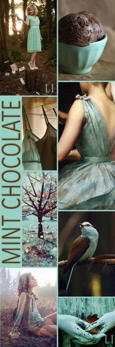 Mint Chocolate Color Inspiration I Cocoa Color Palette Inspiration Colour Pallette, Colour Schemes, Color Trends, Color Patterns, Color Combinations, Color Collage, Color Balance, Colour Board, Color Inspiration