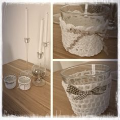 hübsch gehäkelt für das Kerzenglas   Kerzenglasmantel #kerzen #glas #mantel #häkeln