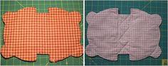 Japanese patchwork teddy bear quilt bag / zipper pouch sewing purse.  Сумочка мишка Тедди.