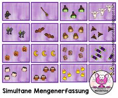 Teacher In Wonderland: Simultane Mengenerfassung bis 6: Halloween