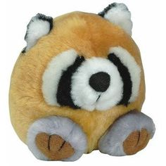 "PETMATE BOODA SQUATTER RACOON TOY 4"" PLUSH TOY - BD Luxe Dogs & Supplies"