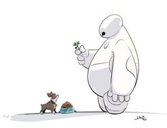 Baymax and Winston <3