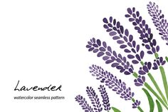 Lavender Watercolor Seamless Pattern by Haidi Illustration on @creativemarket