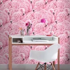 Rasch Flamingo Pink Wallpaper - http://godecorating.co.uk/rasch-flamingo-pink-wallpaper/