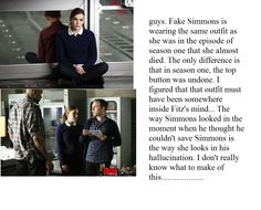 This is my theory about Fitzsimmons. I noticed it was the same outfit when I was flipping through Fitzsimmons pictures to pin. Also I think this is the episode where he realized he was in love with her Marvel Memes, Marvel Avengers, Iain De Caestecker, Fitz And Simmons, Marvel Show, Hero Time, Marvels Agents Of Shield, Agent Carter, Shawarma