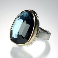 London Blue Topaz Ring by Jamie Joseph, Quadrum