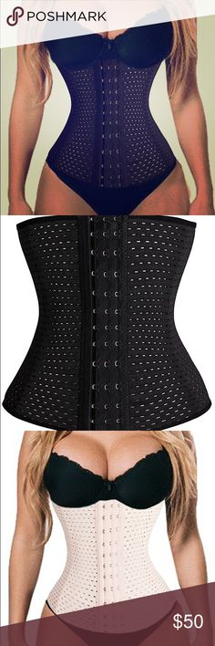 Waist Trainer 100% high quality.Materials: spandex 360degree control on tummy and waist, Seamless, Front multiple hook closure, Waist cincher. This style eliminates back bulge, improves posture and shapes the waist to enhance appearance under clothes. Latex waist shaper features strong elasticity. 4 Spiral steel bone, which is the best material inside the corset.  Please Check The SIZE CHART IN PICTURES. Choose the Size Based on Your Waist Size! Available in Black or Nude. Comment color…
