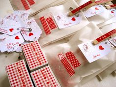 Decorated Glassine Bags  with doiley tag