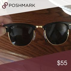 Authentic ray ban club master sunglasses Women's raybans club master sunglasses, a few tiny little scratches that do not effect seeing out of them and they're not visible at all... I paid 185$ Ray-Ban Accessories Sunglasses