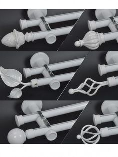 Metal brackets brings more safety wall mount installation. There are many Curtain rod finials for you choose, such as ball finial, cone finial, crystal finial, etc. Finials For Curtain Rods, Curtain Poles, Custom Curtains, Drapes Curtains, Double Curtain Rod Set, Windows And Doors, Wall Mount, Safety, Crystals