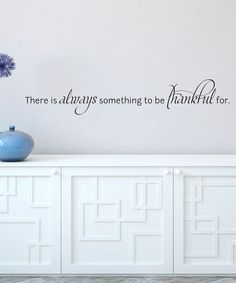 Black Always Be Thankful Wall Quote