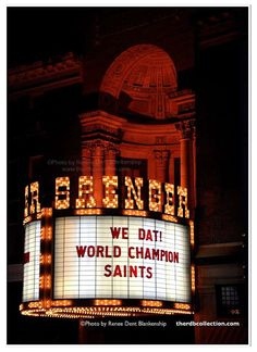We love our New Orleans Saints. Get this great celebration sign at theRDBcollection.