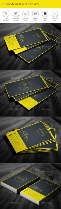 Photographer Business Card — Vector EPS #print #eps • Available here → https://graphicriver.net/item/photographer-business-card/15275144?ref=pxcr