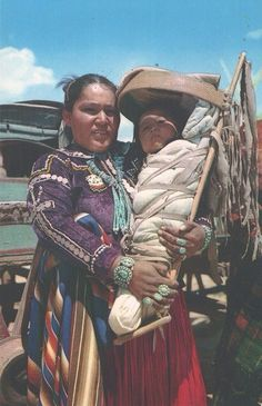 Navajo Mother and Baby