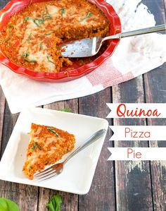Pizza night just got a makeover! This quinoa pizza pie has the pizza flavor you love but is much healthier!