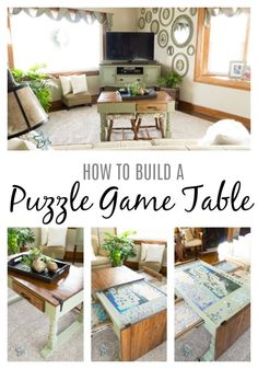Puzzle Table Would Want It Lower With Closed Cabinet For
