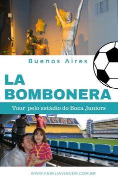 Como é o tour pela La Bombonera, o estádio do time de futebol Boca Juniors. O estádio fica no famoso bairro La Boca,  em Buenos Aires, na Argentina