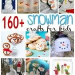 160 Snowman Crafts & Recipes for Kids @funfamilycrafts | #winter #Christmas #DIY