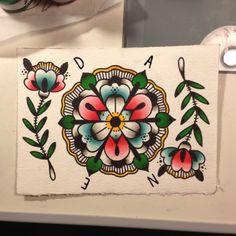 traditional tattoo designs   Old School Mandala