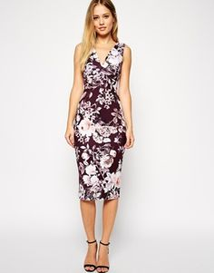 ASOS Autumnal Floral Plunge Dress Product Code: 550234