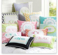PB Teen Monogram Pillows