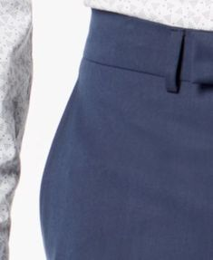 d662b033 Kenneth Cole Reaction Men's Big & Tall Slim-Fit Techni-Cole Stretch Denim  Blue Solid Suit - Blue 52L