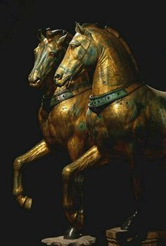 The Horses of St.Mark - attributed to the sculptor Lyssipos and dated to the 4th century BC