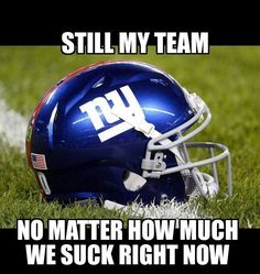 I'll always love my Giants! This separates us real fans from the bandwagon fans!