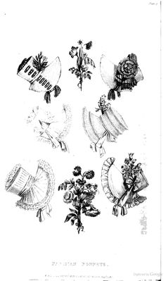 Bonnets from from Ackermann's Repository of the Arts August 1817