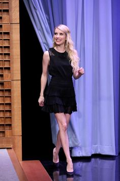 Emma Roberts with our JUPITER skirt guests on the Tonight Show Starring Jimmy Fallon