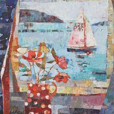 Sailing Boat from Harbour Cottage by Sally Anne Fitter