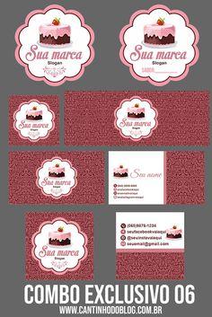 Logo Doce, Lipsense Business Cards, Sonic Birthday Parties, Cake Icon, Cupcake Logo, Chef Logo, Dessert Illustration, Sugar Cake, Cake Business