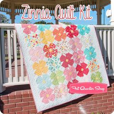 Zinnia Quilt Kit<br/>Featuring Mama's Cottage by April Rosenthal