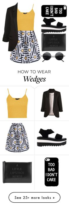 """""""Untitled #267"""" by sarahmaryam-alba-d on Polyvore featuring Lulu Guinness, Topshop and Retrò"""