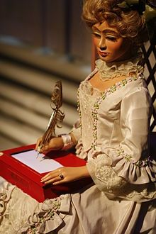 Letter writing automaton --- 'As automata increased in sophistication it was easier to see why some believed they might replace humans.' JT (always in my own words) Fleurier, Haunted Dolls, Economic Systems, Creepy Dolls, Antique Toys, Puppets, Fascinator, Inventions, Wonder Woman