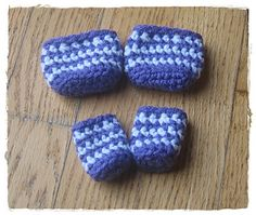 Crochet Chair Socks ~~Save your wood floors from scratches... free pattern