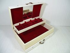 Vintage Shabby Chic Ivory & White Leatherette by DivineOrders