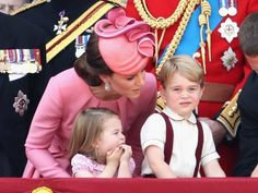 June 17, 2017: Duke and Duchess of Cambridge with Princess Charlotte and Prince George of Cambridge - Trooping of the Colour.