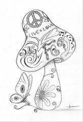 Best trippy art drawing hippie coloring pages ideas Printable Adult Coloring Pages, Coloring Pages To Print, Free Coloring Pages, Coloring Books, Trippy Drawings, Doodle Drawings, Colorful Drawings, Mushroom Drawing, Mushroom Art