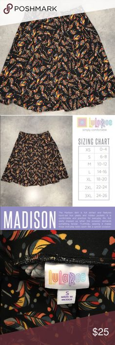 Size S Skirts Clothing, Shoes & Accessories Frugal Lularoe Multi-colored Patterned Skirt