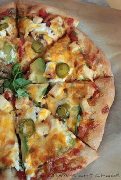 Southwestern Chicken Pizza