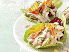 Slow-Cooker Chicken Lettuce Cups   These cups pair the freshness of a salad with the heartiness of a taco.