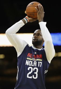 LeBron James Photos Photos - LeBron James #23 of the Cleveland Cavaliers practices for the 2017 NBA All-Star Game at the Mercedes-Benz Superdome on February 18, 2017 in New Orleans, Louisiana. - NBA All-Star Game 2017 - Practice