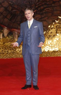 What a cute man! -- The Hobbit: The Desolation Of Smaug premiere in Berlin on 9th Dec, 2013[HQ]