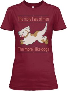 Like Dogs Cardinal Red Women's T-Shirt Front