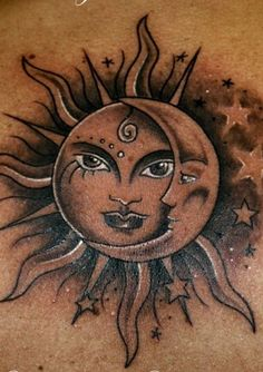 awesome Tattoo Trends - Sun Tattoo Designs 2016 Check more at http://tattooviral.com/tattoo-designs/tattoo-trends-sun-tattoo-designs-2016-2/